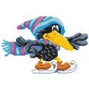 Ворона на коньках Набор для вышивания МП Студия КН-388
