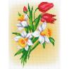 Букет нарциссов и тюльпанов Набор для вышивания МП Студия КН-391