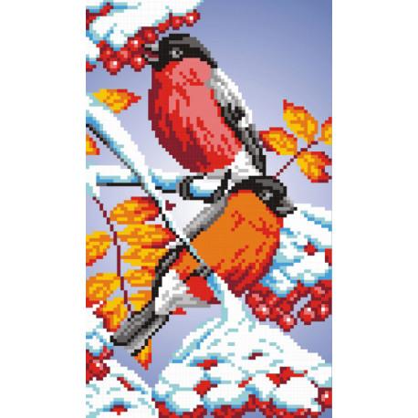 Снегири Набор для вышивания МП Студия КН-394