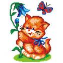 Кот с колокольчиком Набор для вышивания МП Студия КН-400