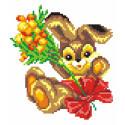 Заяц с букетом Набор для вышивания МП Студия КН-403