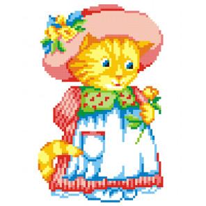 Кошка в шляпе Набор для вышивания МП Студия КН-404