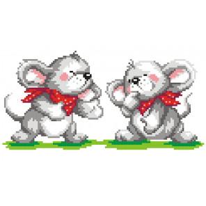 Два мышонка Набор для вышивания МП Студия КН-411