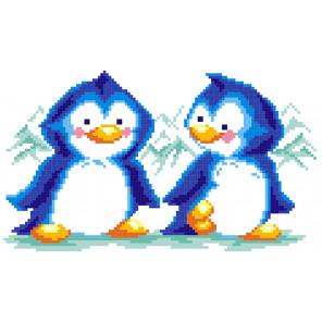 Пингвины Набор для вышивания МП Студия КН-412