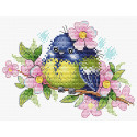 Романтичная пташка Набор для вышивания МП Студия М-554