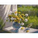 Время цветения одуванчиков 30х40 см Раскраска картина по номерам на холсте PKC79014