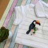 Пример вышитой работы Тропический житель Набор для вышивания МП Студия В-540