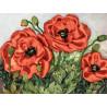 Маки Набор для вышивки лентами Каролинка КЛ(Н)-4014