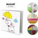 Слоник с зонтом Алмазная мозаика открытка своими руками Mazari M-10485