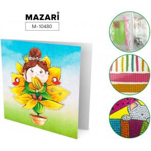 Принцесса Алмазная мозаика открытка своими руками Mazari M-10480