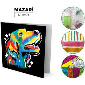 Радужный пес Алмазная мозаика открытка своими руками Mazari M-10476