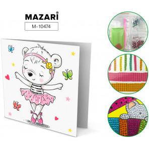 Мишка-балерина Алмазная мозаика открытка своими руками Mazari M-10474