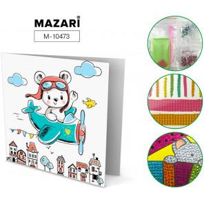 Мишка-пилот Алмазная мозаика открытка своими руками Mazari M-10473