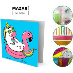 Единорожек Алмазная мозаика открытка своими руками Mazari M-10458