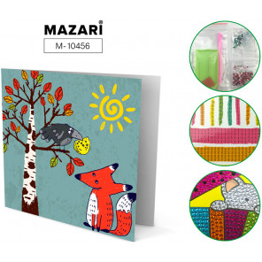 Ворона и лисица Алмазная мозаика открытка своими руками Mazari M-10456