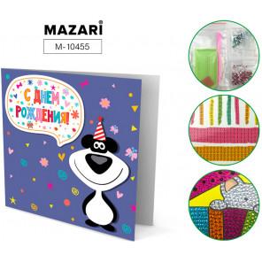 С днём рождения! Алмазная мозаика открытка своими руками Mazari M-10455