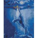 Встреча с китом в полнолуние 40х50см Алмазная мозаика вышивка на подрамнике APK79059