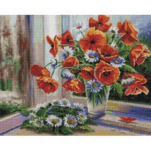 Цветочная рапсодия 40х50см Алмазная мозаика вышивка на подрамнике APK79058