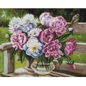 Пионов лохматая радость 40х50см Алмазная мозаика вышивка на подрамнике APK79037