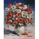 Маки и ромашки 40х50см Алмазная мозаика вышивка на подрамнике APK79029