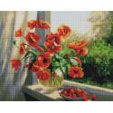 Летние краски 40х50см Алмазная мозаика вышивка на подрамнике APK79021