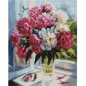 Когда цветут пионы 40х50см Алмазная мозаика вышивка на подрамнике APK79018