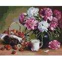 Клубничный десерт 40х50см Алмазная мозаика вышивка на подрамнике APK79017