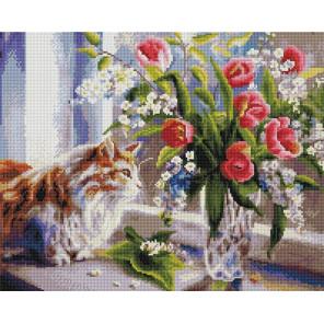 А за окном весна 40х50см Алмазная мозаика вышивка на подрамнике APK79009