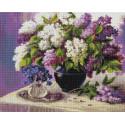 Сиреневый май 40х50см Алмазная мозаика вышивка на подрамнике APK79008
