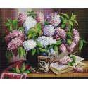 Остывший чай с сиреневым ароматом 40х50см Алмазная мозаика вышивка на подрамнике APK79003