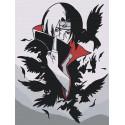 Итачи и вороны 2. Аниме Раскраска картина по номерам на холсте AAAA-RS050-60x80
