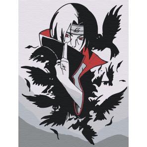 Пример в интерьере Итачи и вороны 2. Аниме Раскраска картина по номерам на холсте AAAA-RS050