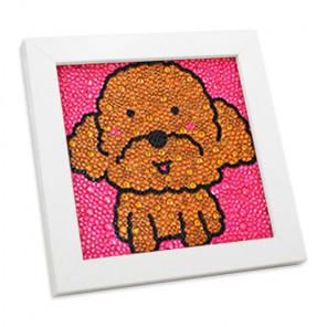 Пёсик-кудряшка Алмазная мозаика вышивка в деревянной рамке Mazari M-10431