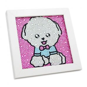 Милый пёсик Алмазная мозаика вышивка в деревянной рамке Mazari M-10427