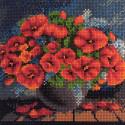 Натюрморт из маков Алмазная мозаика вышивка без подрамника Mazari M-10503