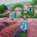 Лавандовое поле Алмазная мозаика вышивка без подрамника Mazari M-10521
