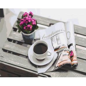 Утренний кофе Раскраска картина по номерам на холсте GX37912