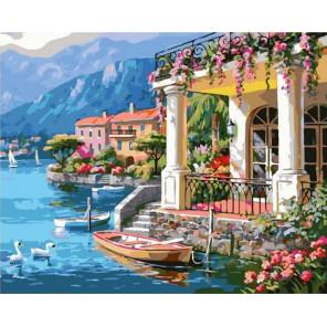 Вилла у моря Раскраска картина по номерам на холсте GX37902
