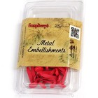 7мм Темно-розовые Набор брадсов 25 шт Scrapberry's