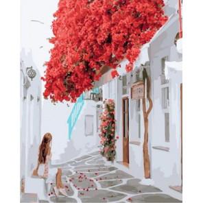 Красная листва с крыши Раскраска картина по номерам на холсте GX37805