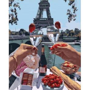 Романтический ужин в Париже Раскраска картина по номерам на холсте GX37803