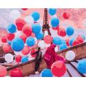 Воздушный Париж Раскраска картина по номерам на холсте GX37800