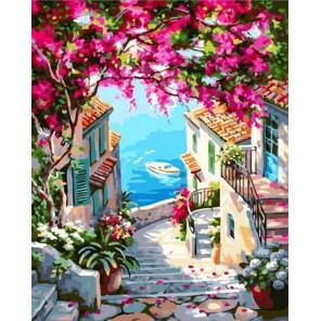 Лестница к морю Раскраска картина по номерам на холсте GX37785