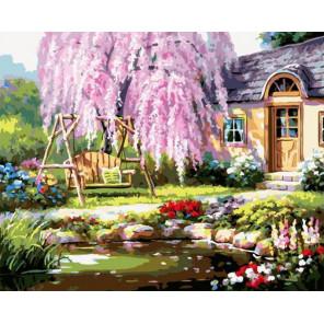 Сакура Раскраска картина по номерам на холсте GX37772