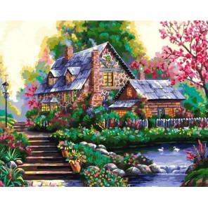 Романтический домик Раскраска картина по номерам на холсте GX37770