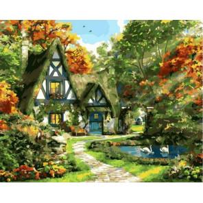 Домик в сказочном лесу Раскраска картина по номерам на холсте GX37769