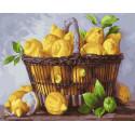 Лимонная корзинка Раскраска картина по номерам на холсте GX37733