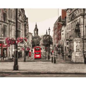 Лондон Раскраска картина по номерам на холсте GX37691