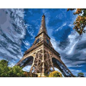 Эйфелева башня Раскраска картина по номерам на холсте GX37682