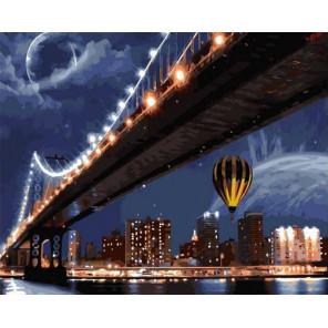 Ночной мост Раскраска картина по номерам на холсте GX37593